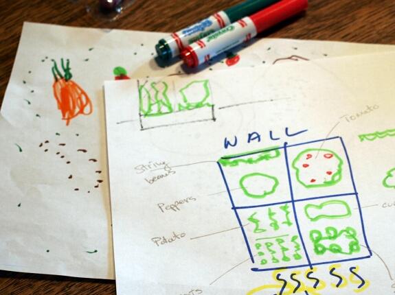 Garden planning with kids