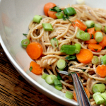 Ginger peanut noodles, Asian noodles, Mom 100 Cookbook
