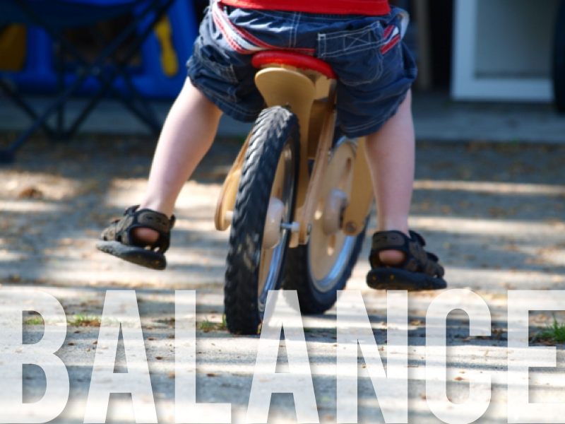 Balance bike, teaching kids to ride